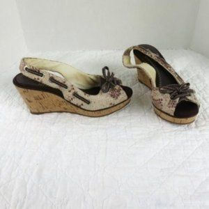 Sperry Topsider Southport Slingback Wedges Sz 6